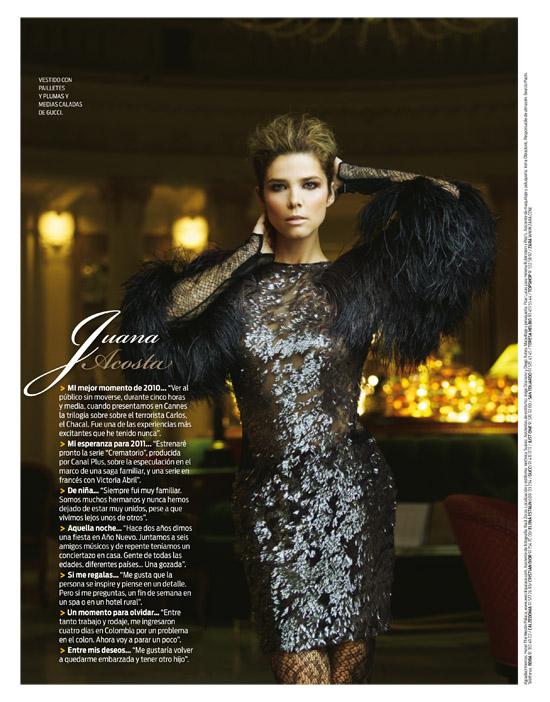 """Juana Acosta en portada de """"Mujer Hoy"""" para despedir el 2010"""