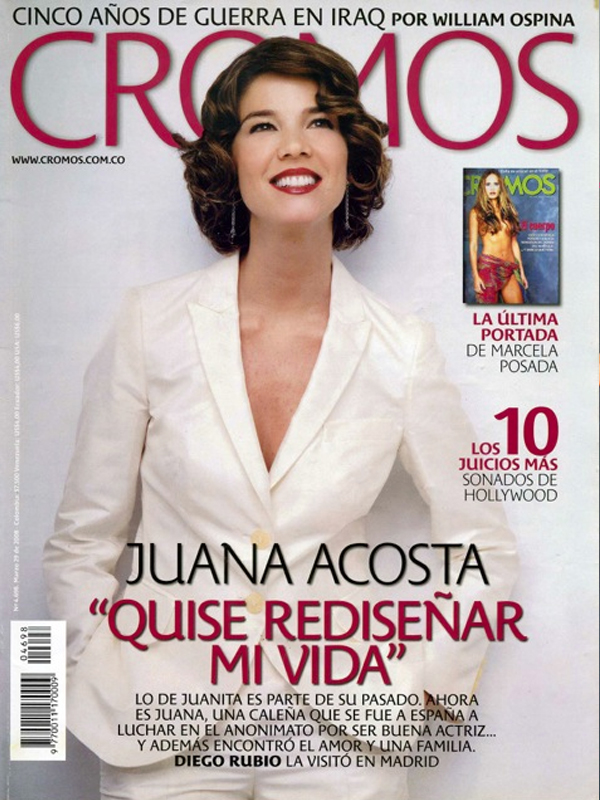 Juana Acosta. Covers. Cromos
