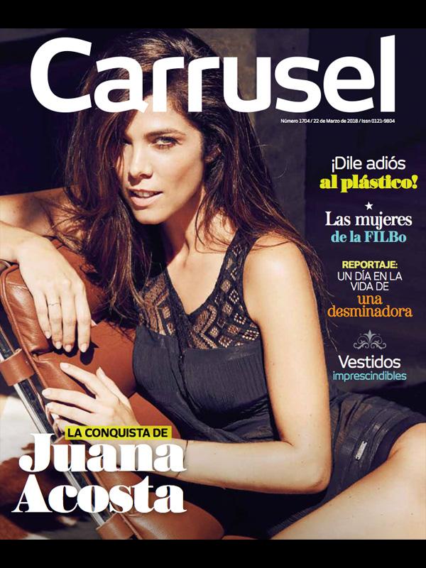 Juana Acosta. Portada Carrusel