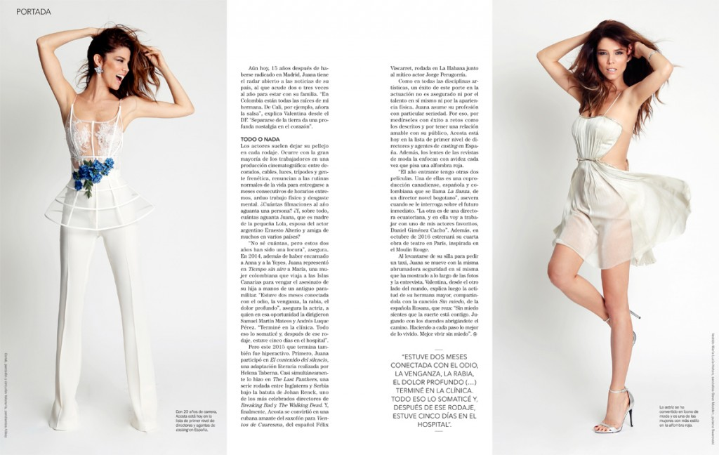 Juana Acosta: Revista Diners diciembre 2015