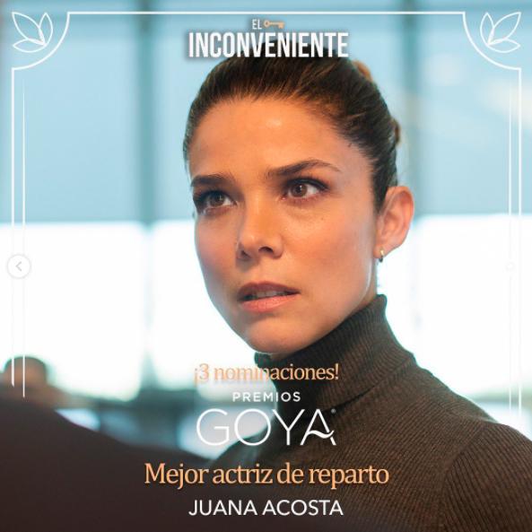 Juana Acosta nominada como mejor actriz de reparto en Los Goya
